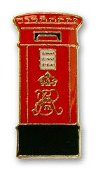 Postbox pin badge