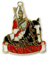 Royal horseguard pin badge