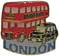 Bus/taxi pin badge