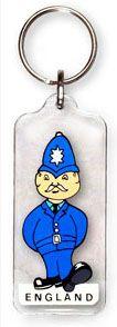 Policeman acrylic keyring