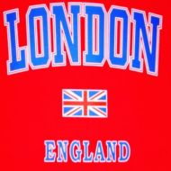 London/England red kids t-shirt