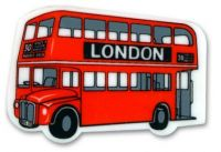 Double decker bus eraser