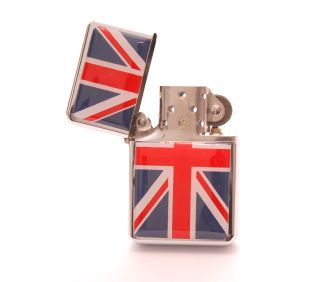 Union jack refillable lighter