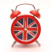Union jack mini alarm clock