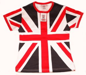 Union jack skinny fit ladies t-shirt