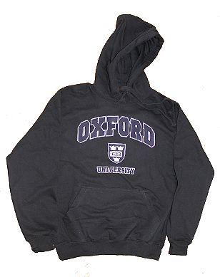 Oxford University hooded sweatshirt