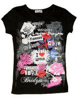 Black London fashion t-shirt
