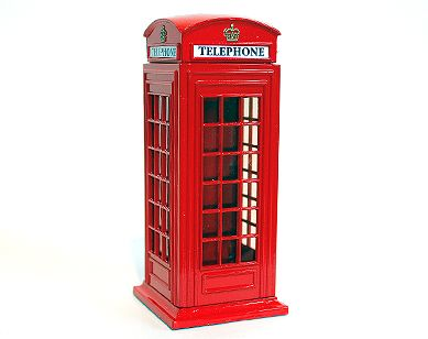 Telephone box moneybank