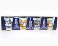 Pack 4 London shot glasses