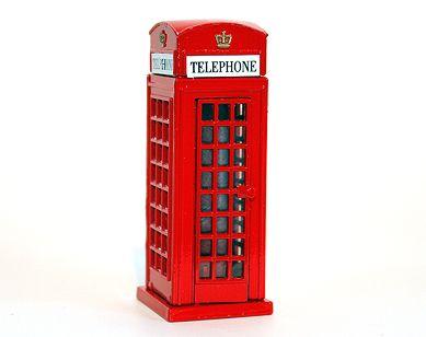 Telephone box diecast pencil sharpener