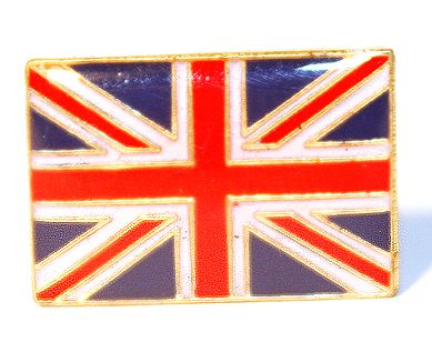 Union jack pin badge
