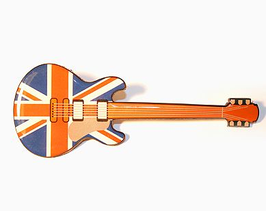 Union jack guitar magnet