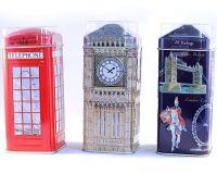 Explore London tea caddies giftpack
