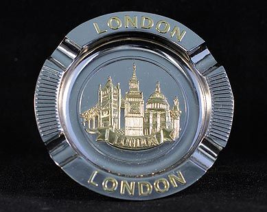 Landmarks metal ashtray
