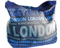 Green canvas London bag