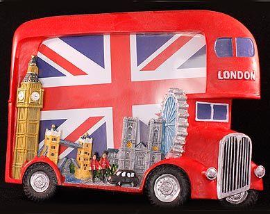 London bus photo frame