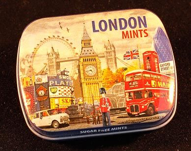London mini mints tin