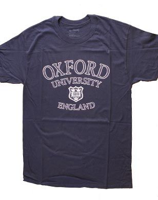 Oxford University navy t-shirt