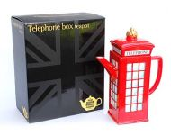 Telephone box novelty teapot