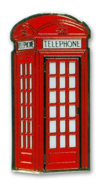 Telephone box metal fridge magnet