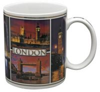 London by night photographic mug