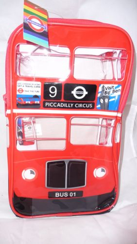 London bus PVC backpack