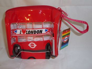 PVC London bus bag