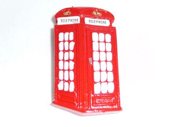 Telephone box polyresin fridge magnet