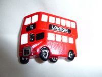 London bus polyresin fridge magnet