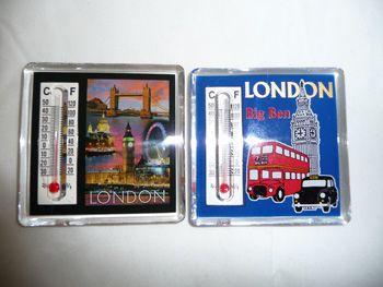 London thermometer fridge magnet