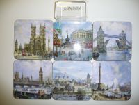 6 traditional scenes London coasters