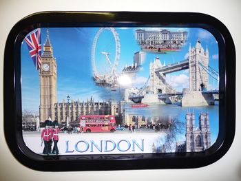 London tin tray