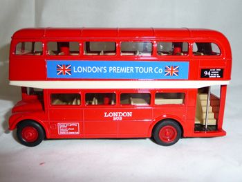 Diecast double decker bus