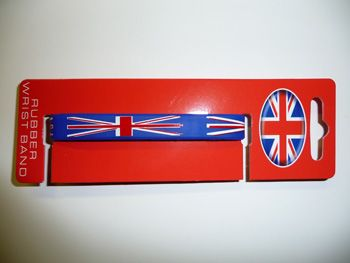 Union jack rubber wristband