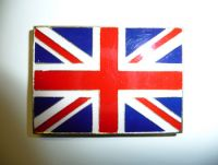 Union jack metal fridge magnet