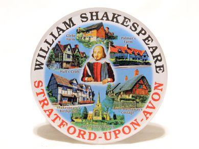 Stratford circular acrylic magnet