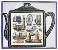 London landmarks teapot stand